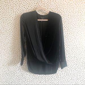 79bd4b9da2ca7 rag   bone Tops - New Rag   Bone Victor Black Silk Velvet ...
